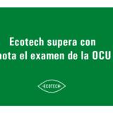 En este caso aparece el título del artículo, ya que nuestros productos ecológicos y sostenibles han superado con nota el examen de la OCU