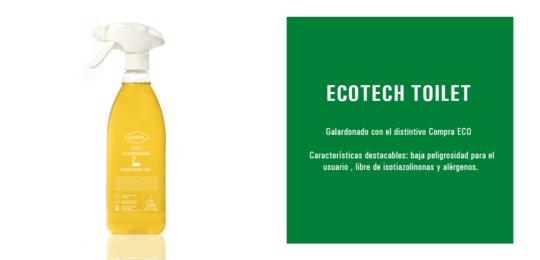 Nuestro Ecotech Toilet, un producto sostenible y ecológico especial para el baño-